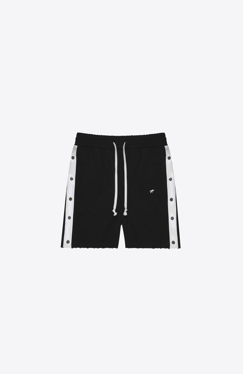 BLACK SNAP TRACK SHORT