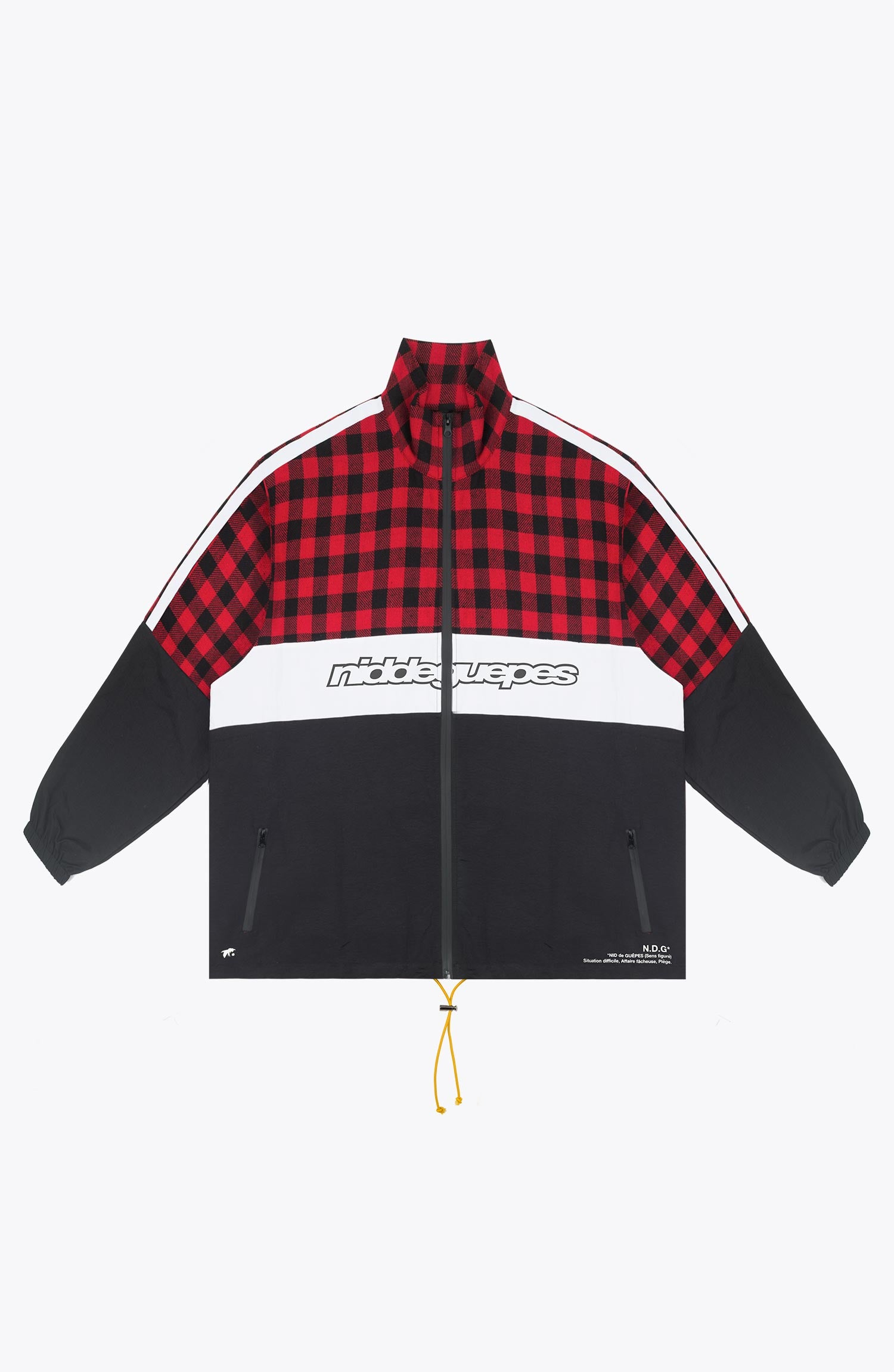 escape windbreaker v2 - red tartan