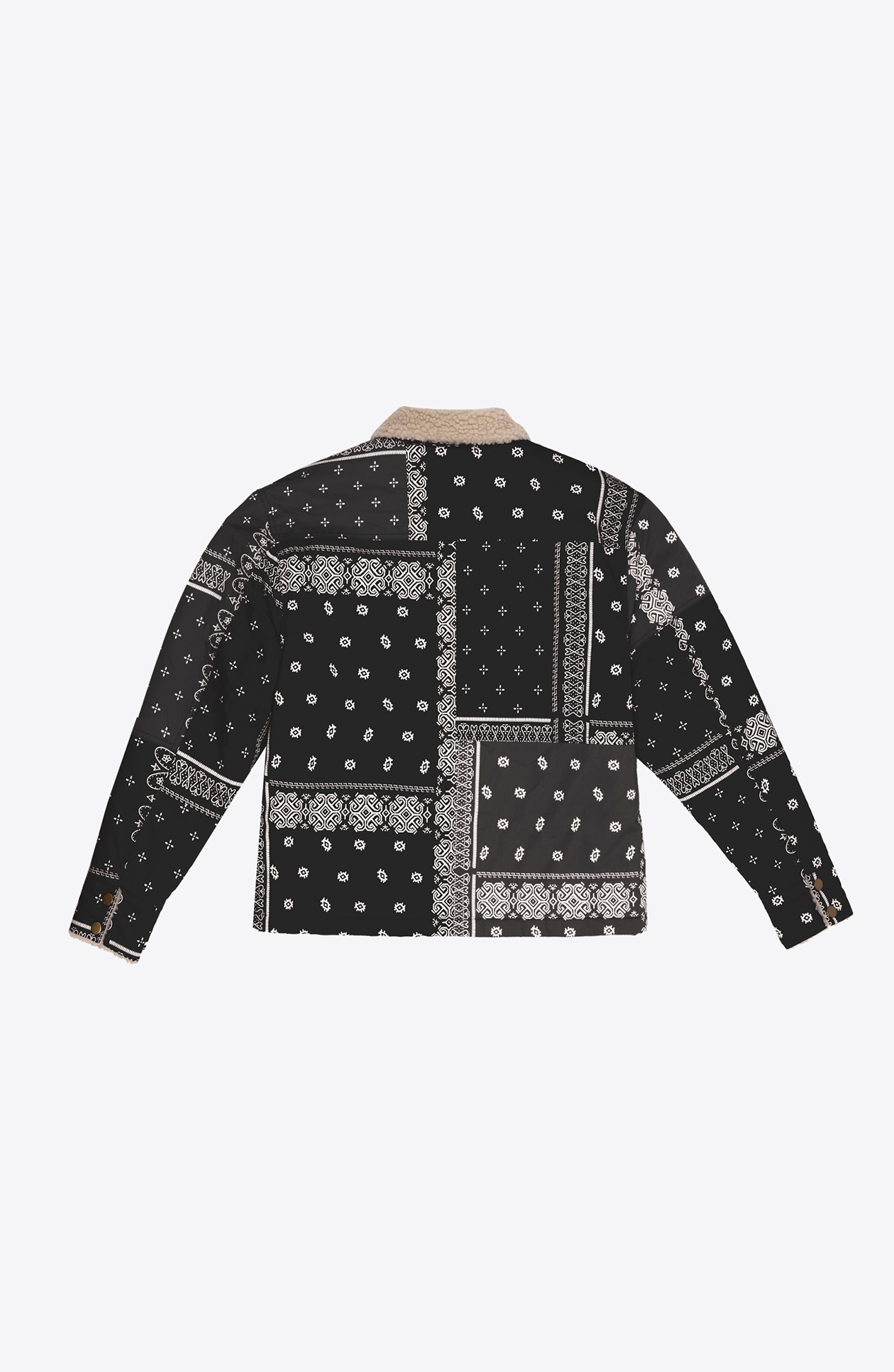 BLACK BANDANA TRUCKER JACKET