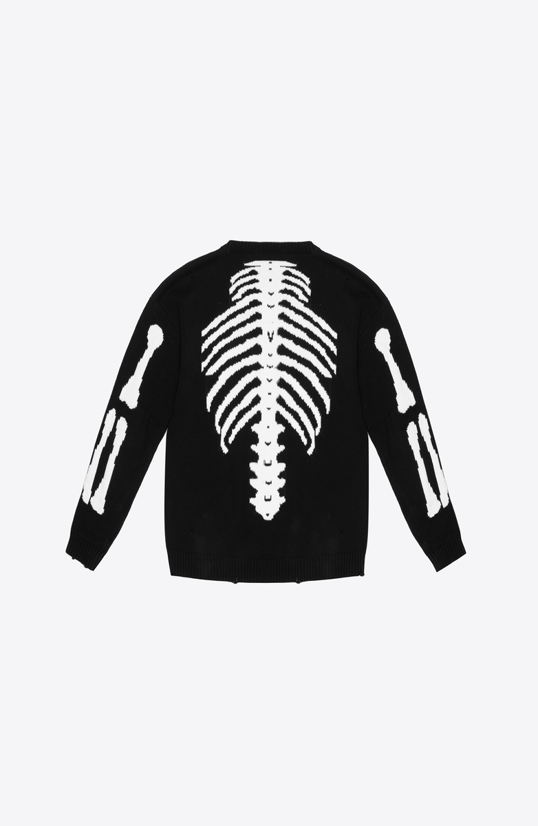 DESTROYED BONES KNIT SWEATER