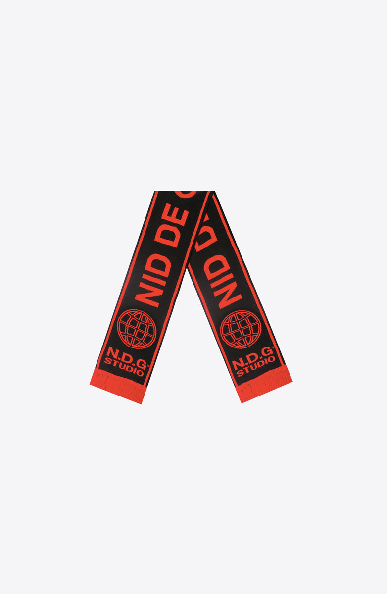 BLACK FOOTBALL SCARF