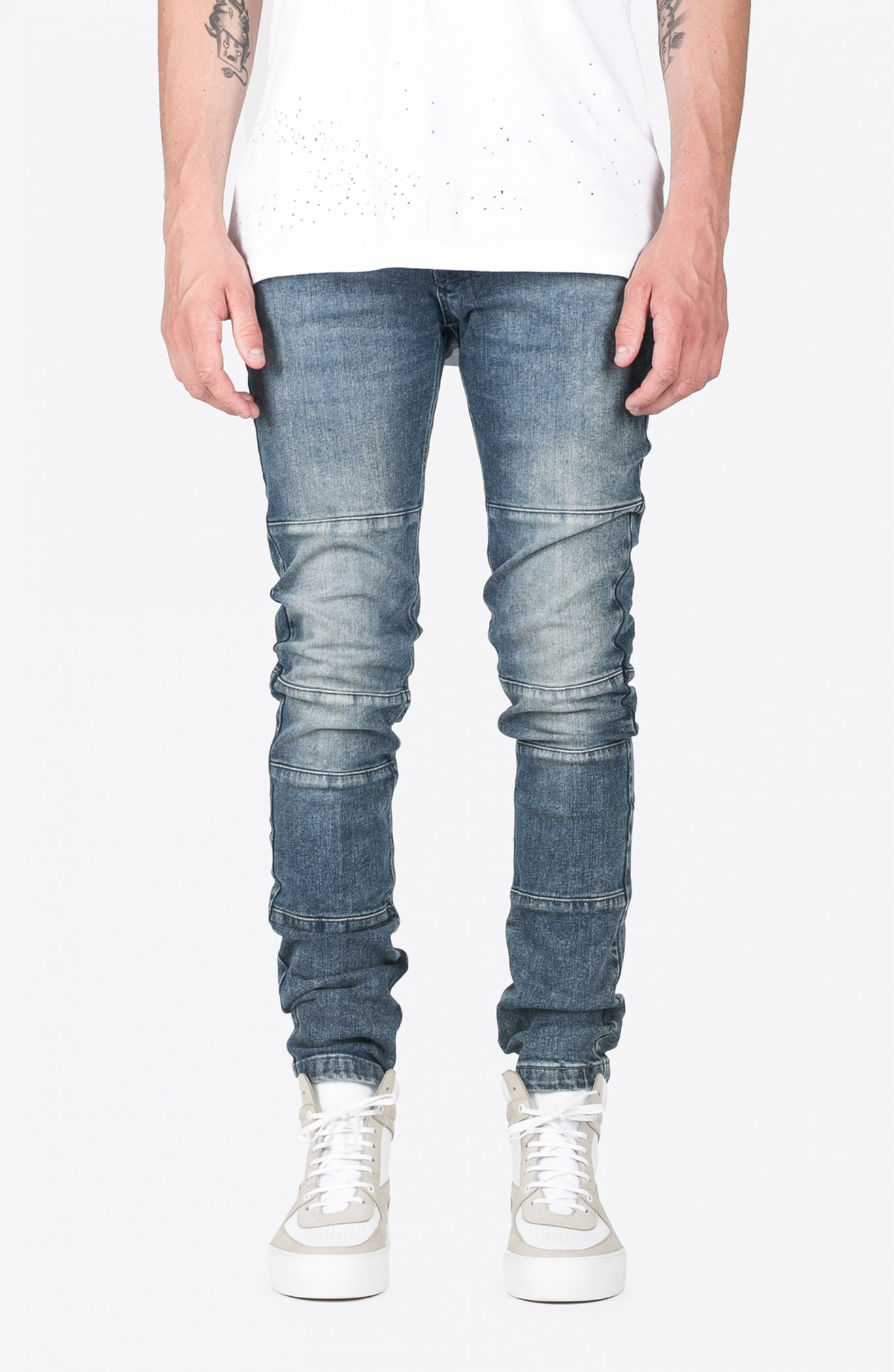 BLUE BIKER DENIM