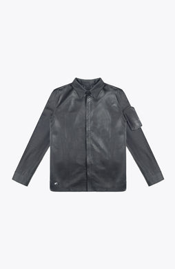 leather cargo shirt