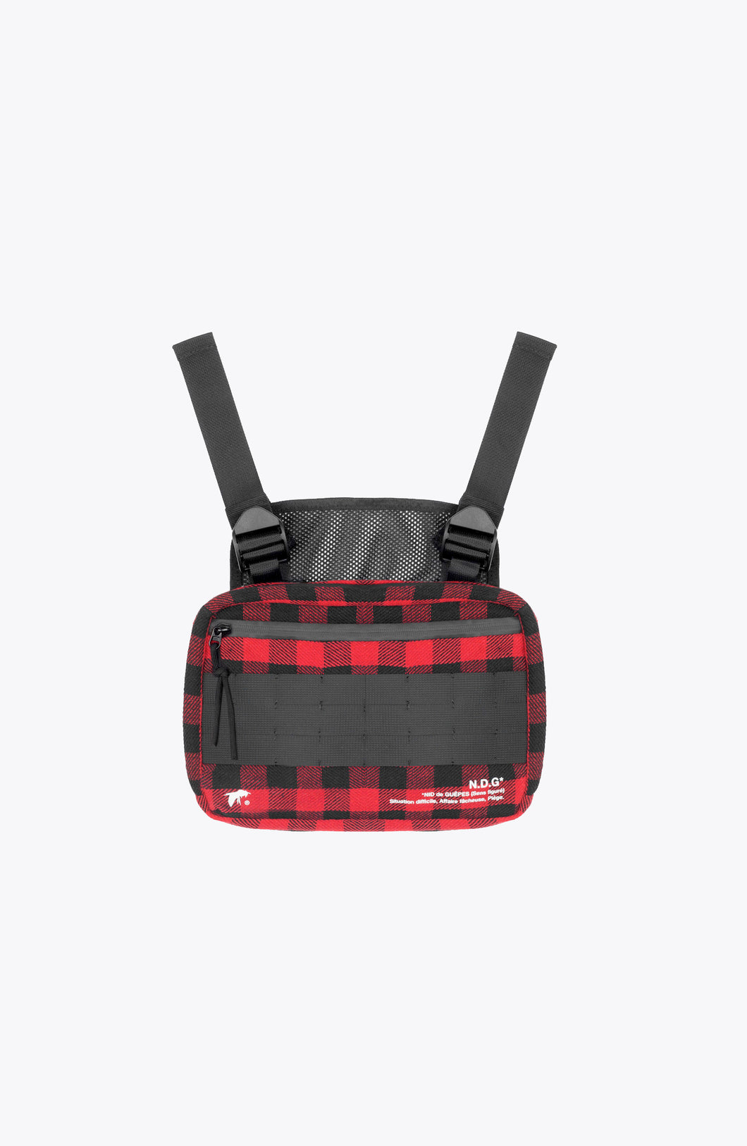 escape chest pack - red tartan