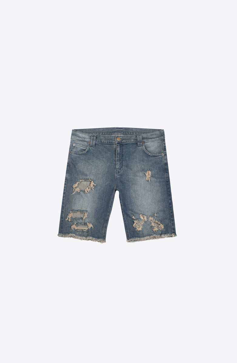 DENIM DROP CROTCH SHORT