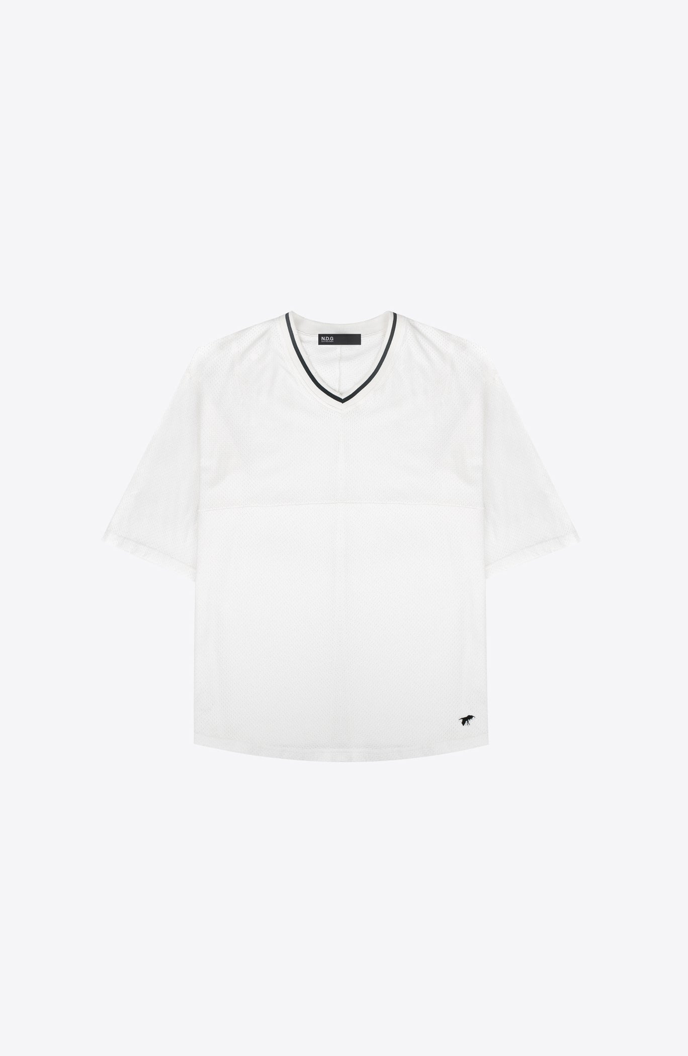 WHITE MESH HOCKEY TEE