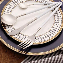 Leno Two Toned Flatware Set
