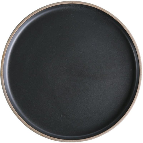 Marin Black Stoneware Dinner Plate-dinnerware-Turtle Leaf