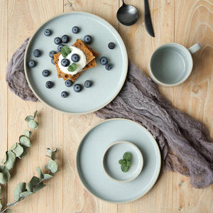 Marin Blue Stoneware Dinner Plate-dinnerware-Turtle Leaf