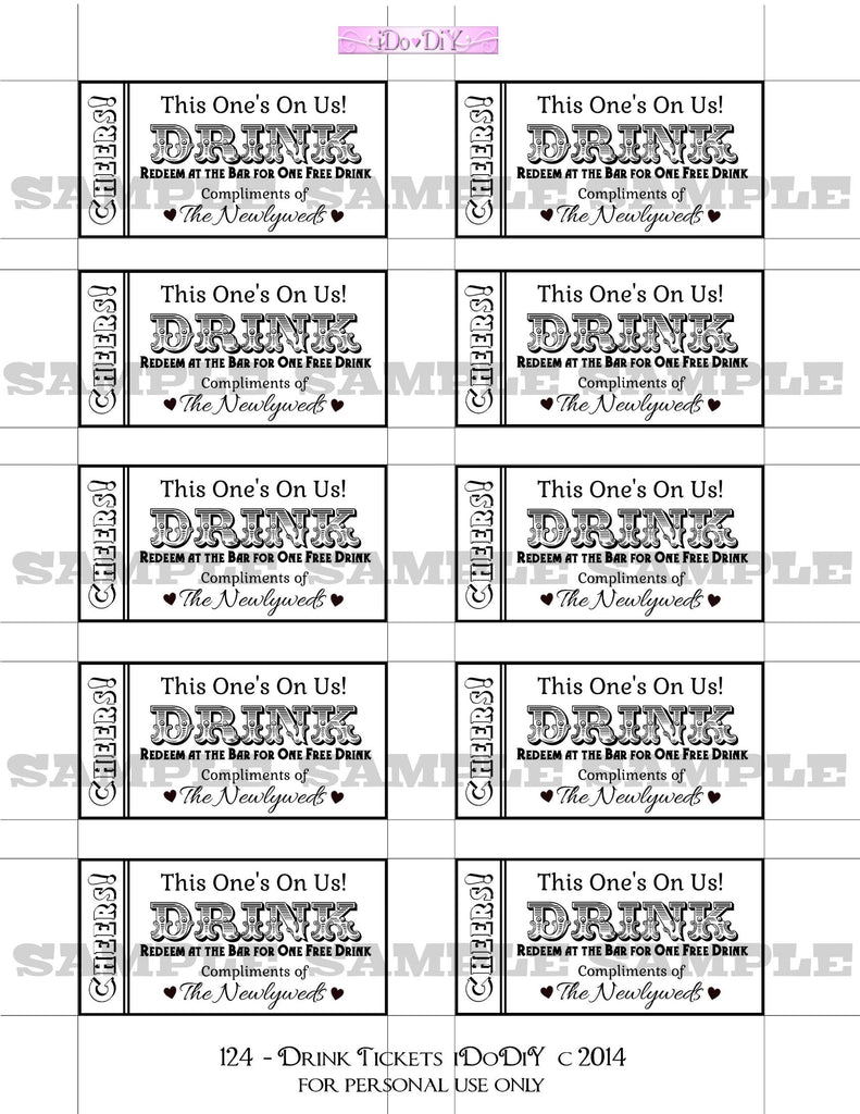 drink tickets printable download for weddings arty cat designs