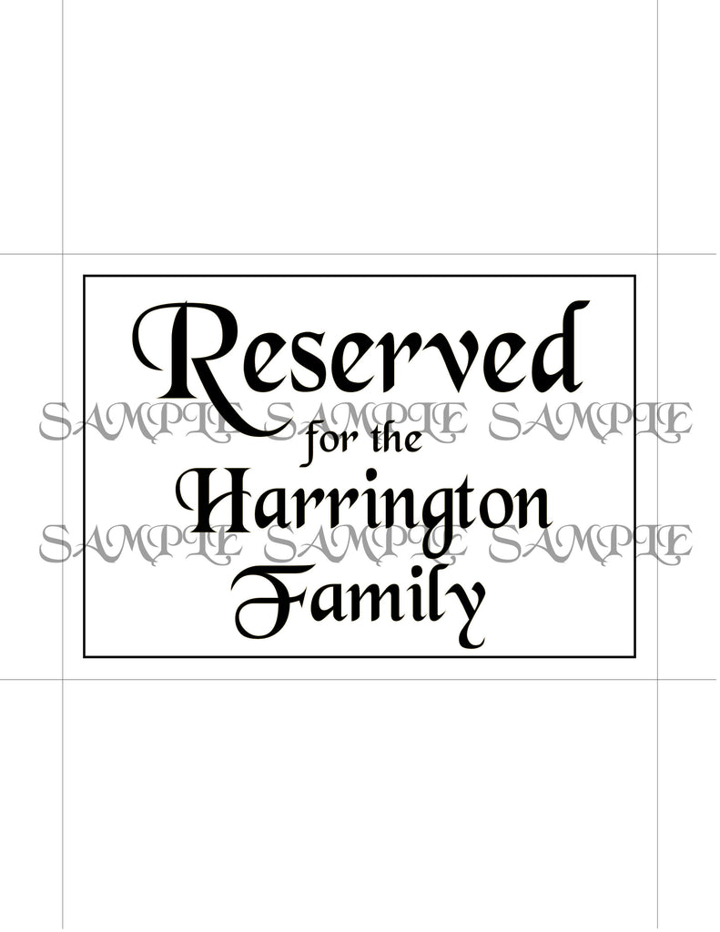 customized printable reserved table signs idodiy arty cat designs
