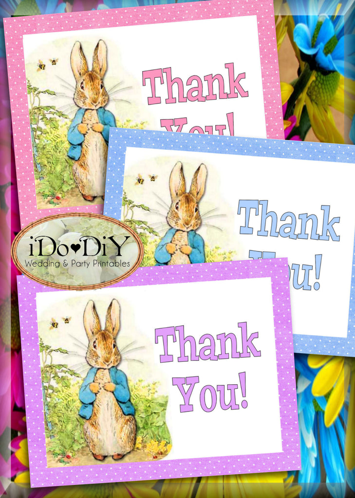 Peter Rabbit Personalized Party Invitations With Thank You Cards ...