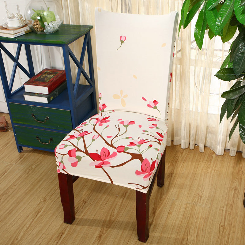 Luxury Elastic Print Dining Chair Cover For Banquet. Click To Zoom