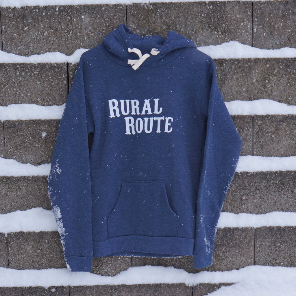 Rural Route Hooded Sweatshirt - Heather Blue