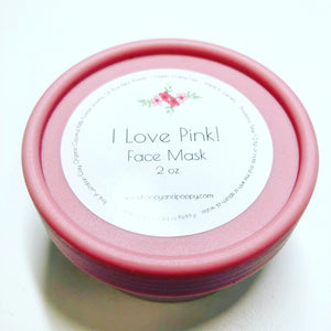 I Love Pink! Face Mask