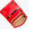 Valentino Fragola Red Leather Rockstud Mini Crossbody