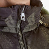 Versace Mens Puffer Coat with Detachable Faux Fur Trimmed Hood