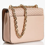Tory Burch Laser Cut Pink Leather Convertible Mini Crossbody