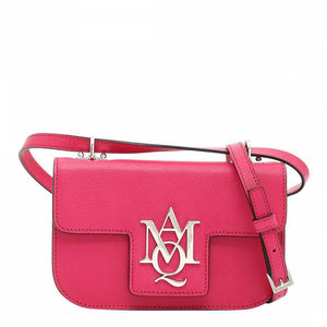 Alexander McQueen Insignia Leather Crossbody Bag Pink