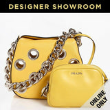 Prada Leather Grommet Mini Hobo with Pouch Color - Sole