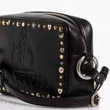 Lanvin Nomad Studded Leather Mini Shoulder Bag Black