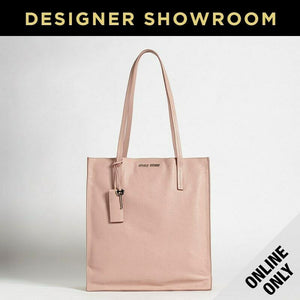 Miu Miu Pink Leather Shopper Tote