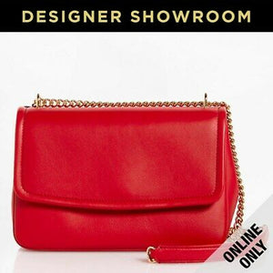 Dolce & Gabbana Margherita Red Leather Flap Top Convertible Bag
