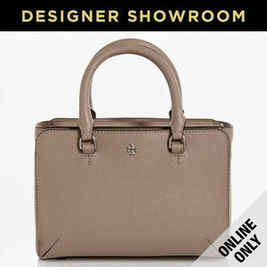 Tory Burch Saffiano Grey Leather Convertible Mini Tote