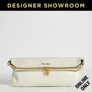 Miu Miu White Leather Convertible Hobo