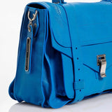 Proenza Schouler Leather PS1 Convertible Satchel Blue