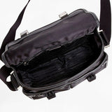 Prada Nylon & Leather Black Messenger Travel Bag