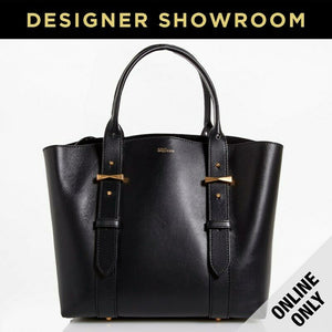 Alexander McQueen Legend Black Leather Tote Bag with Bonus Pouch