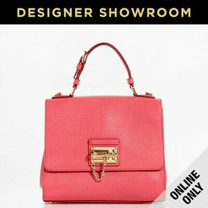 Dolce & Gabbana Monica Embossed Bright Pink Leather Convertible Bag
