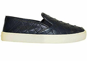 Tory Burch US 9 Women's Blue Leather Logo Slip On Sneaker
