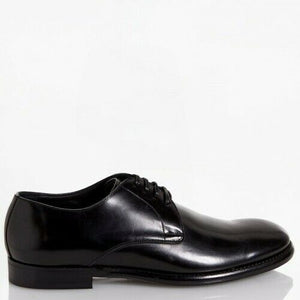 Dolce & Gabbana EUR 42 Men's Brushed Leather Derby Shoes Upper A10007 AC460