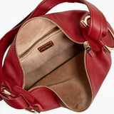 Salvatore Ferragamo Opera Badia Pebbled Leather Gancio Hobo