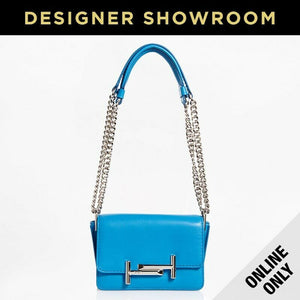 Tod's Micro Double T Leather Convertible Crossbody - Light Blue