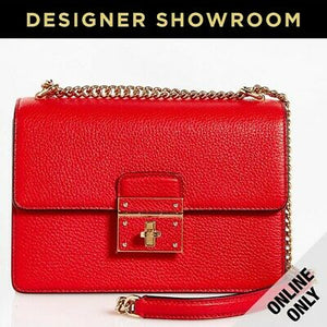 Dolce & Gabbana Rosalia Red Leather Convertible Bag