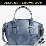 Alexander McQueen Leather Legend Small Convertible Satchel Blue