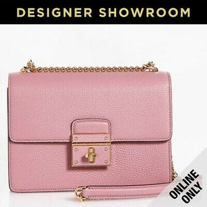 Dolce & Gabbana Rosalia Pink Leather Convertible Bag