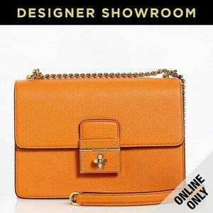 Dolce & Gabbana Rosalia Orange Leather Convertible Bag