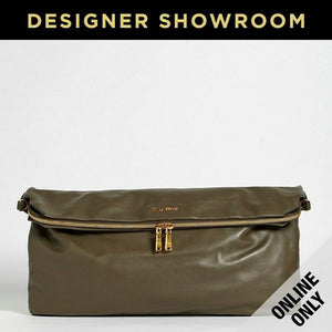 Miu Miu Olive Leather Convertible Hobo