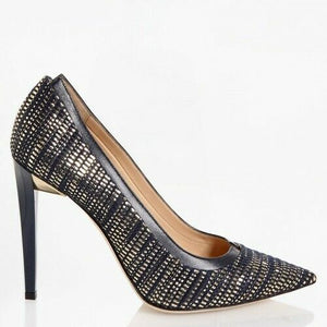 Jimmy Choo EUR 38.5 Imogen Woven Metallic Pumps IMOGEN110WVK