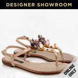 Dolce & Gabbana EUR 37/US 7 Embossed Leather Flower Thong Sandals Upper CQ0073