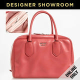 Prada Tamaris Peach Leather Two-in-One Convertible Satchel