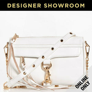 Rebecca Minkoff Mini M.A.C. Leather Convertible White Gold