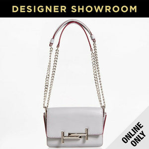 Tod's Micro Double T White Leather Convertible Crossbody
