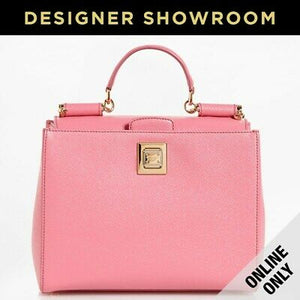 Dolce & Gabbana Sicily Rosa Intenso Leather Convertible Bag