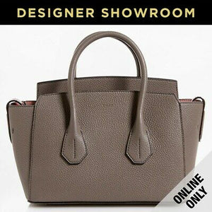 Bally Sommet Grained Leather Mini Tote in Grey