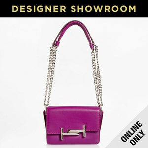Tod's Micro Double T Fuschia Leather Convertible Crossbody